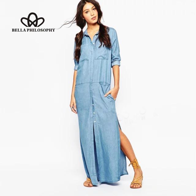 Chemise robe longue   Evenement augmente a71d6d5ed85f