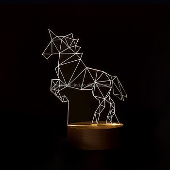 3d Small Night Lights Christmas Gifts Creative Lamp Unicorn Lamp Lights Led Decorative Lamp Birthday Present Buy Night Light Lamp Night Light 3d