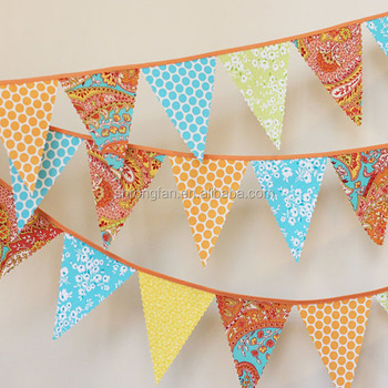 Pennant Bunting String Flags Fabric