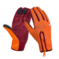 Anti slip Motorcycle Bike Gloves Warm Mountain Road Cycling Gloves Touch Screen Anti shock Full Finger