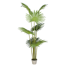 180 cm alto Fan Palm árbol Artificial Tropical de <span class=keywords><strong>plantas</strong></span> de interior ajustes decoración Y8502-7-1PS