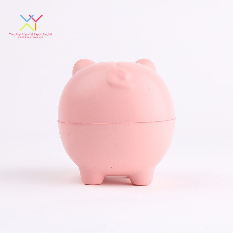 New Design Custom Promotional Stress Ball Animal shaped Pig Squeeze Toy