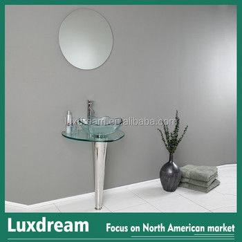 Modern Gl Bathroom Vanity Frosted Edge Mirror Simple