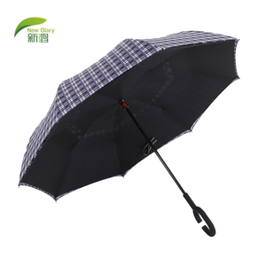 Travel Fiberglass Kazbrella Invert Personalize Reverse Umbrella Windproof Reflect Strip