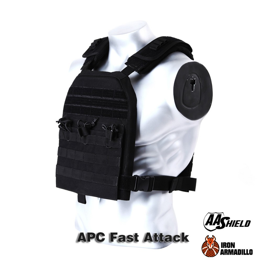 APC Armadillo Plate Carrier Ballistic Tactical Molle Gear Body Armor Vest -- Bullet Proof Vest IIIA Soft Armor Variety Kit