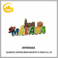 Promotional Malaga tourism souvenir resin fridge magnet