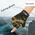 Free Fisher Breathable Fishing Gloves Anti Slip Outdoor 3 cut Glove