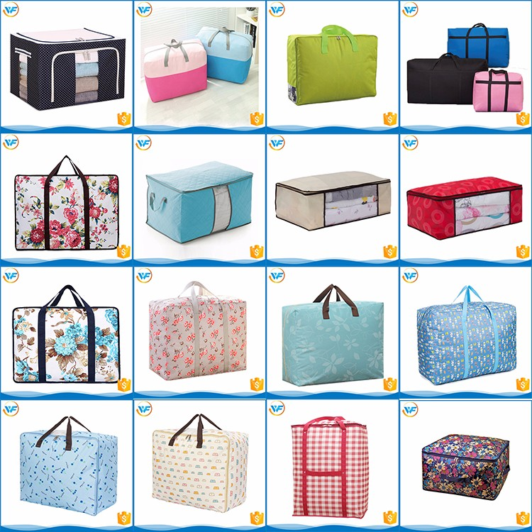 Customized Size Household Storage Oxford Bag with Zipper for Cloth Quilt Luggage