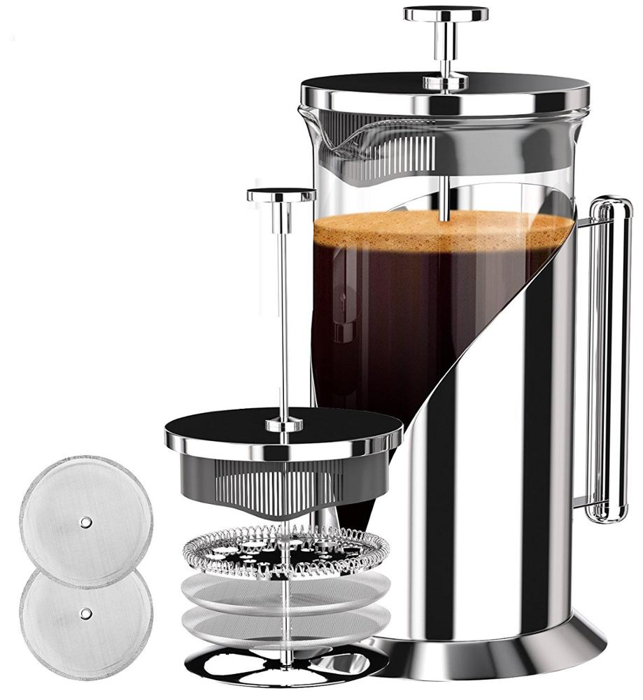 1000ML & 600 ML portable stainless steel pod french press <strong>coffee</strong> and tea press maker