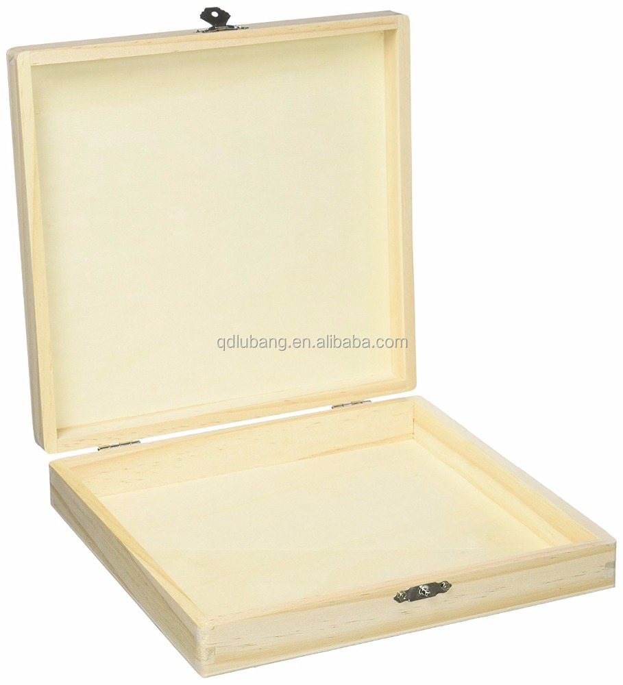 Luxury Mini Unfinished Wooden Cigar Box With Lock Fox Sale