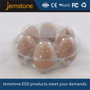 2016 China disposable PVC 6 packs plastic quail egg tray