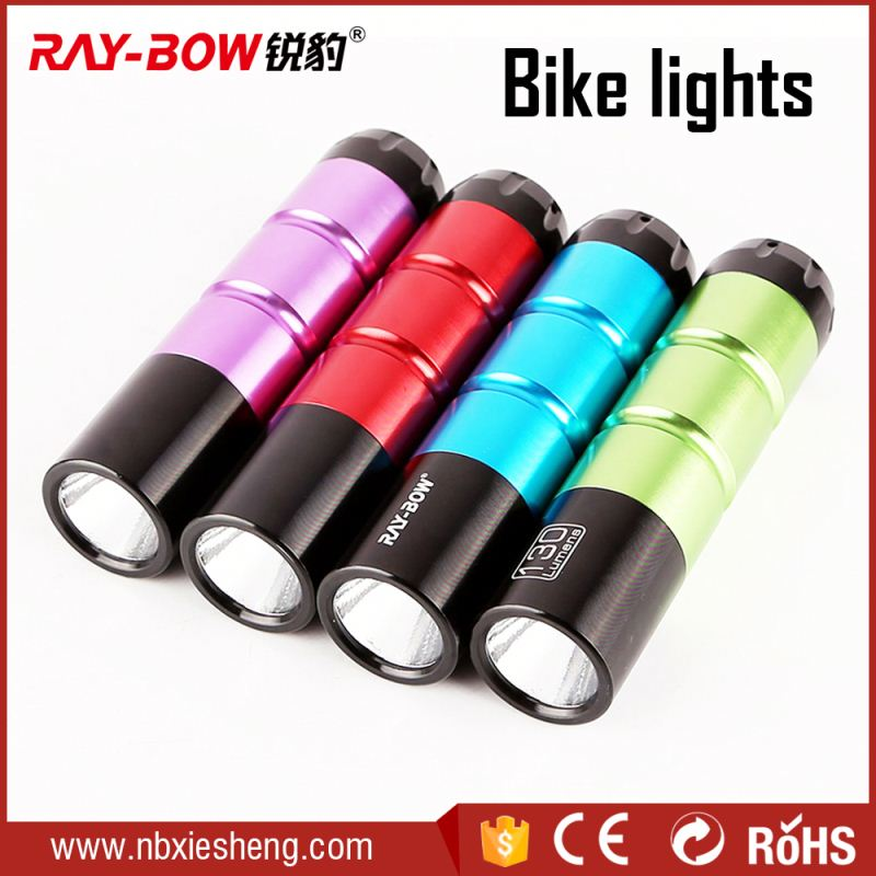 Black Color Outdoor Fun Mini Bicycle Lamp Bike Light With Bracket