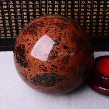 Decorative Rough Red Obsidian Stone Ball Crystal Centerpiece for Sale