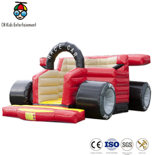 Construction Truck Inflatable Big Bounce House with Castle Slide for Sale