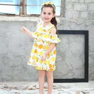 2018030 Wholesale children's boutique clothing baby girl party dress children frocks designs baby girls dressrful soft cotton pa