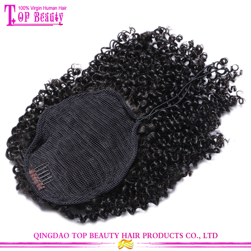 Best selling products ponytail headband real human hair top quality afro kinky hair ponytail