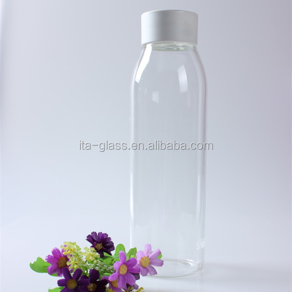 1000ml glassware manufacturer heat resistant clear pyrex glass water drinking bottle cheap personalized glass juice milk bottle