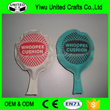 Customized 8 Inch Joke Toys Rubber Whoopee Cushion