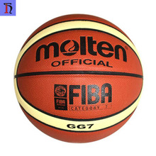 High quality PU Molten GG7 /GG6 customize your own basketball 12 panels Laminated wholesale Molten size 7 baskeball ball