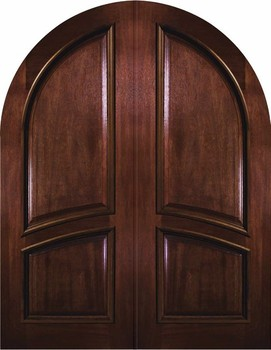 Arch Top Entryway Radius Arch Double Door Unit Mahogany Wood Project Door