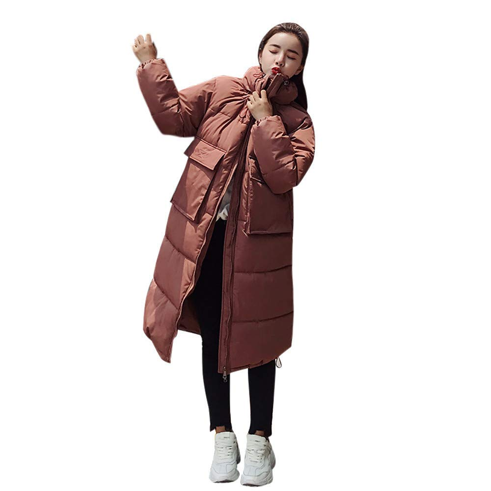 8cb2ac6e695 Get Quotations · ZYooh Clearance Women Winter Coat Stand Neck Thick Warm  Parka Overcoat Casual Long Down Jacket with