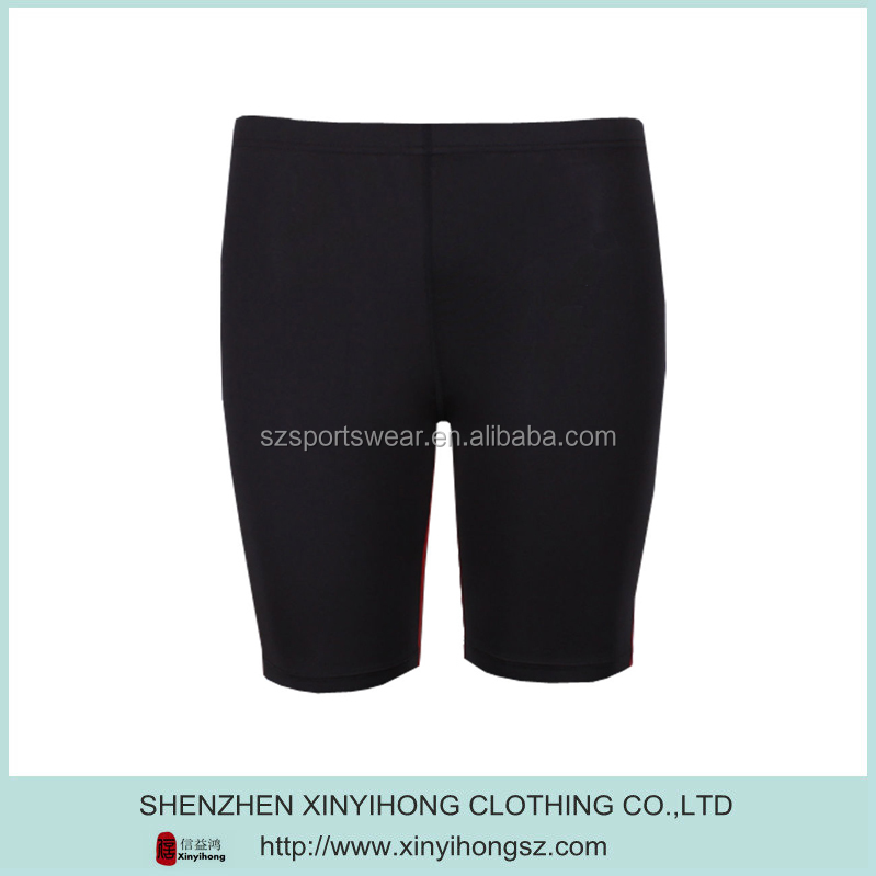 Blank Black Color Nylon Tight Running Shorts Women
