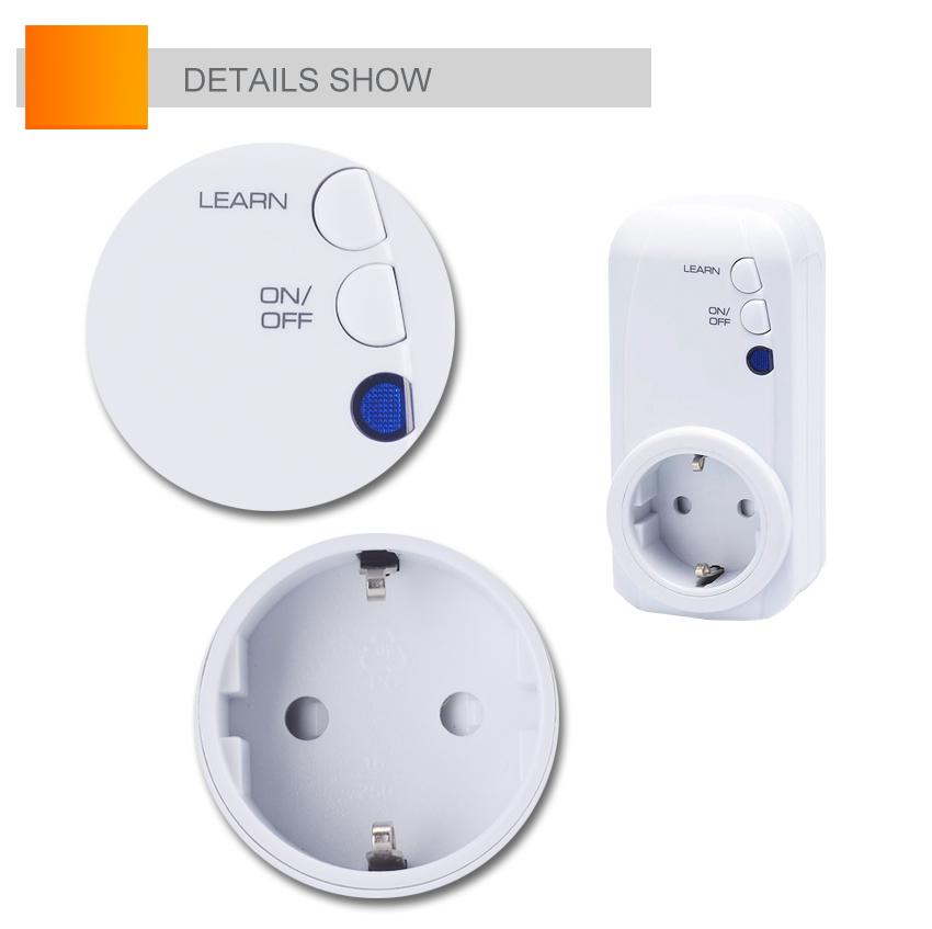 1vs4 prise de contr le distance sans fil prises de courant interrupteur prise de courant buy. Black Bedroom Furniture Sets. Home Design Ideas