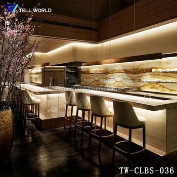 Modern mercial Bar And Lounge Furniture Straight U Shape Bar