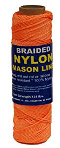 T.W . Evans Cordage 12-522 Number-1 Braided Nylon Mason Line, 1000-Feet, Orange