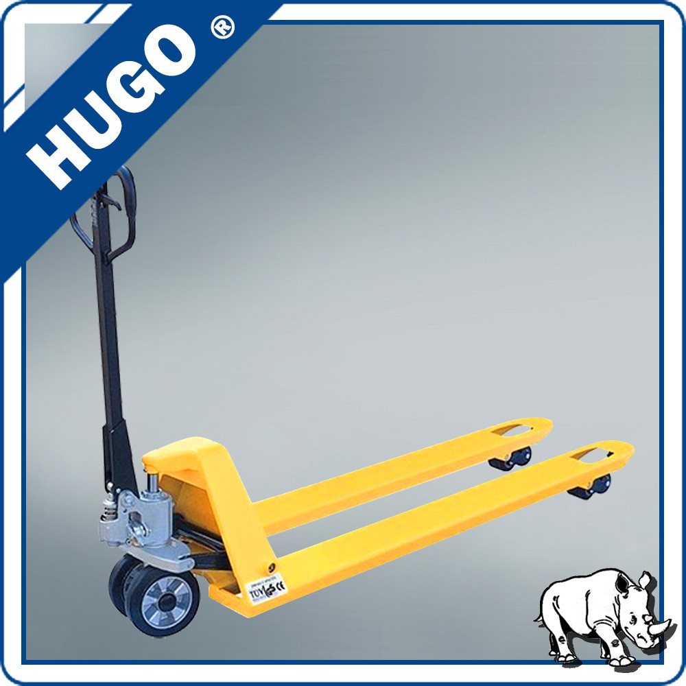 Nylon wheel pull trolley 2.5 ton hydraulic mini hand pallet truck