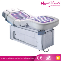 Multifunctional Spa Furniture water heating massage table electric massage bed with led light