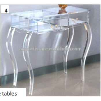 Waterfall Clear Lucite Console Table With 2 Drawers