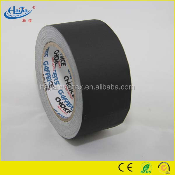 Available in matte black, white,red,yellow and blue color finish gaffer tape