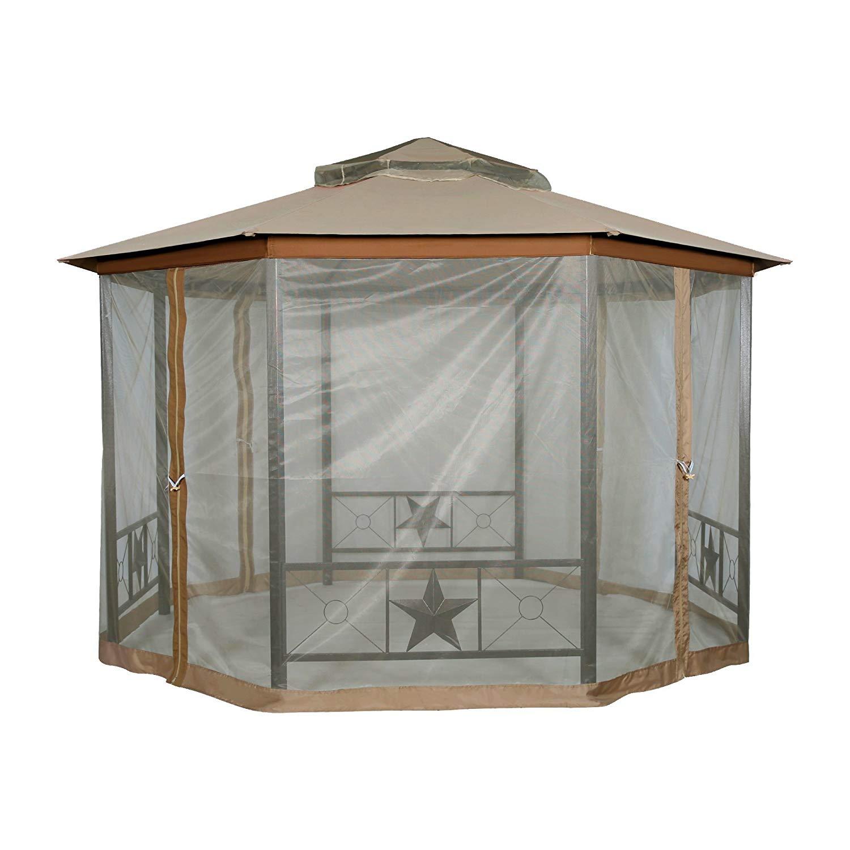 Get Quotations Furniture Outdoor Gazebo 12 X Patio With 4 Mosquito Netting Garden Metal