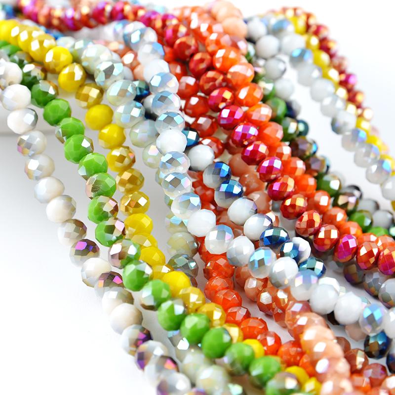 Perles en cristal de Rondelle de verre de haute qualité pour la fabrication de bijoux prix directs d'usine de Yiwu