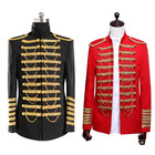 2019 latest fashion vintage theater performance party Men royal army prince costume coat jacket military blazer suits