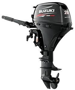 "Suzuki 20 HP 4-Stroke EFI Outboard Motor Tiller 15"" Shaft"