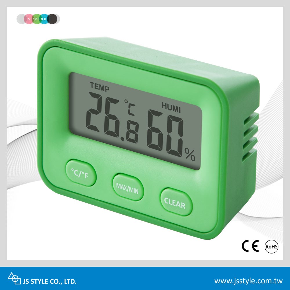 Hot Selling High Accuracy Indoor LCD Electronic Max Min Digital Hygro Thermometer