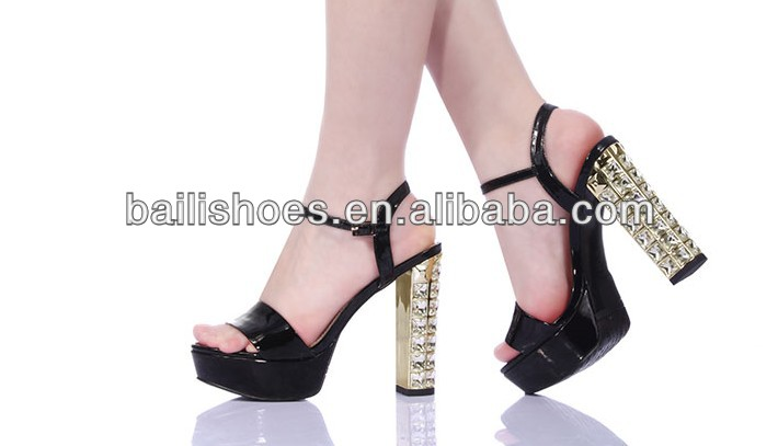 2014 newest design sexy fashion shining diamond night club fashion party and wedding high heels ladies sandal shoes for summer