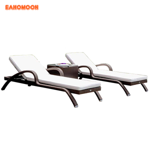 outdoor sunbed rattan furniture daybed for beach sunlounge