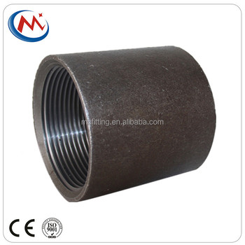 Carbon Steel Pipe Connector,Female Thread Welding Nipples ,Black Steel Wire