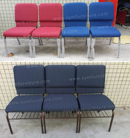 Metal Used Church Chairs With Book Pocket With Low Price - Buy ...