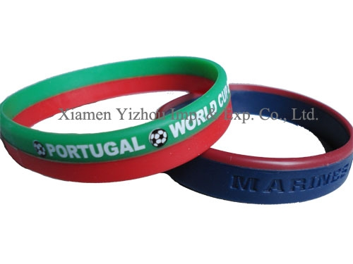 Personalized as stretch silicone bracelet