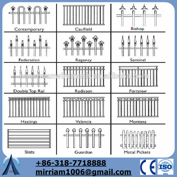3 Rail Or 2 Rail Used Wrought Iron Fence For Sale With Decorative