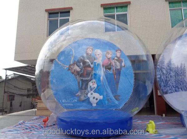 barato de encargo libre gigante de navidad inflable bola de nieve foto humano para la venta