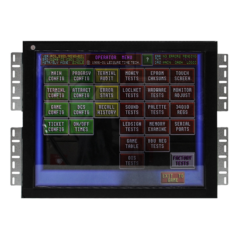 Wms game machine 19'' pot o gold touch screen monitor with bezel