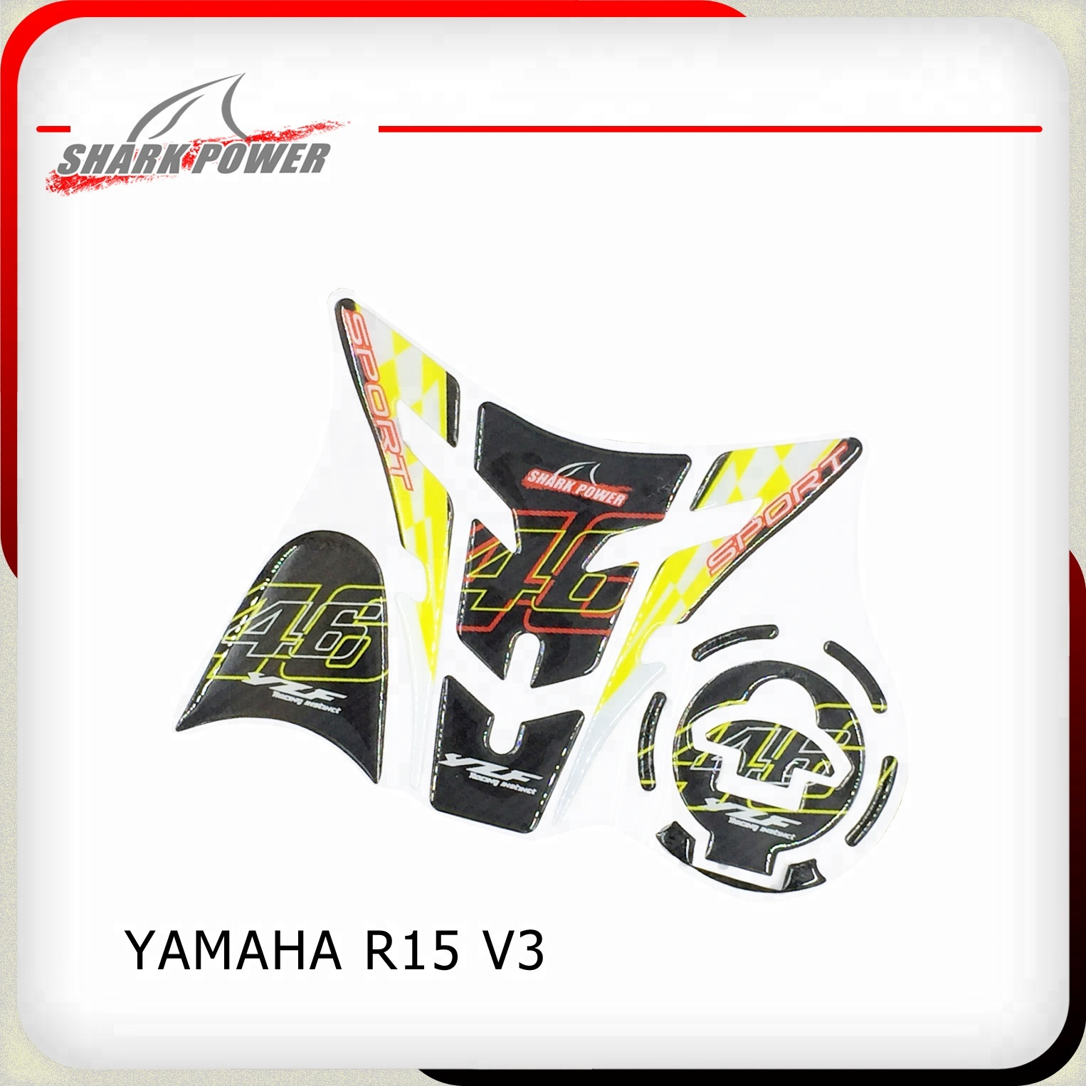 Motorcycle Refit Accessories 5d Tankpad Rubber Garbon Fiber Tank Pad  Protector Sticker For Yamaha R15 V3 - Buy Motorcycle Sticker  Design,Motorcycle