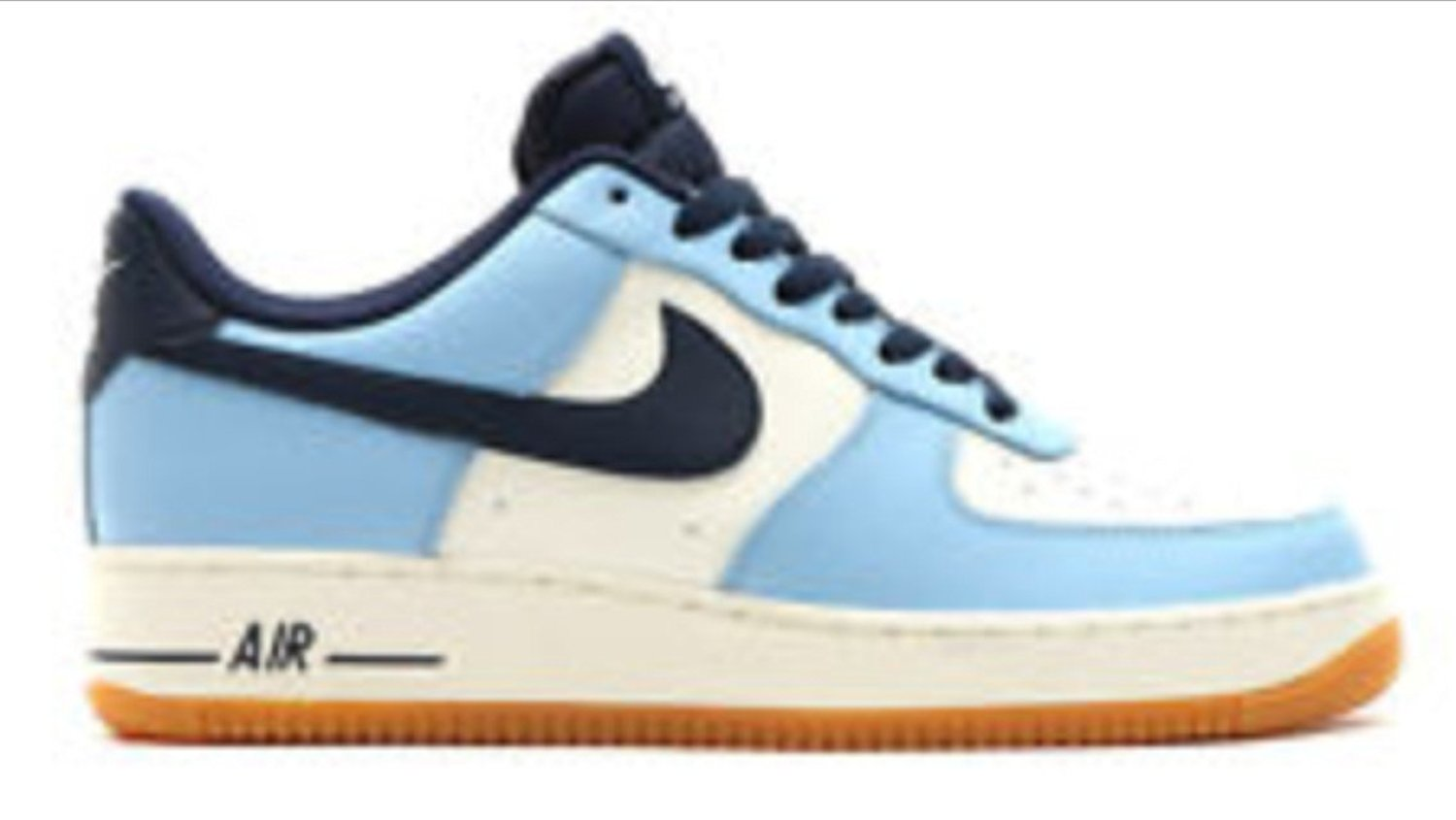 Air Force 1 Premium (GS) size 7y white/Lt-blue/navy/gum