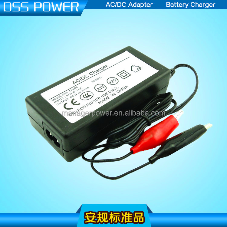CE Approval cost-effective of lead-acid battery charger with 14.4V 3A