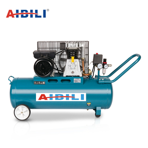 Hot sale 2 cylinder 8 bar 3hp belt driven piston air compressors mini air compressor with tank